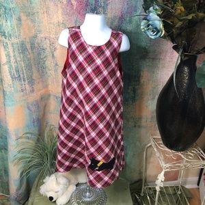 🐶Copper Key Vintage Plaid Puppy Scotty Girl Dress